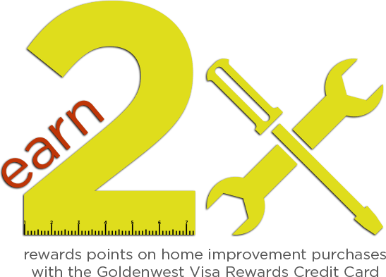Earn two times rewards points on home improvement purchases with the USU Credit Union Visa Rewards Credit Card
