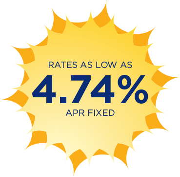 Rates as low as 4.74% APR fixed