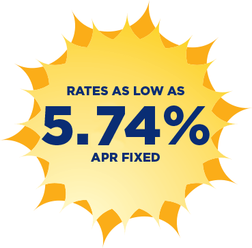 Rates as low as 5.74% APR fixed